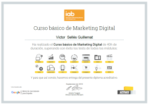 Certificación de Marketing Digital